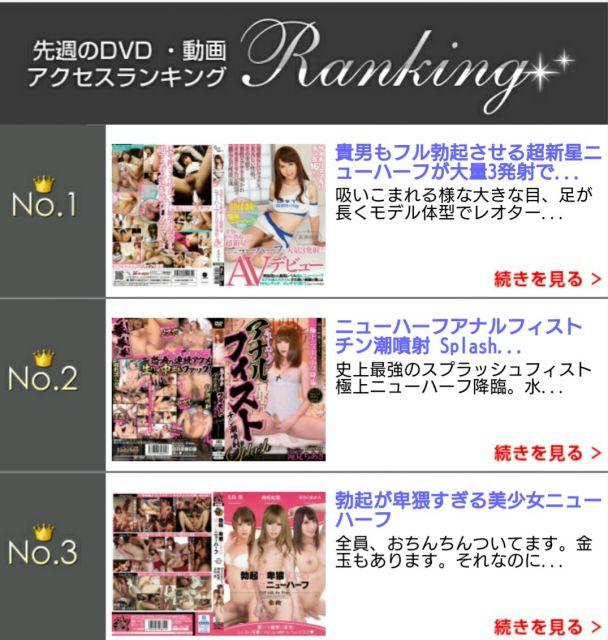ニューハーフファンさん  DVD 動画アクセスランキング( ^-^)ノ∠※。.:*:・'°☆