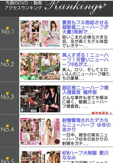先週のニューハーフファンさん DVD動画アクセスランキング( ^-^)ノ∠※。.:*:・'°☆