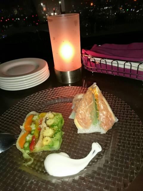 夜景と食事を楽しんできました(*^_^*)