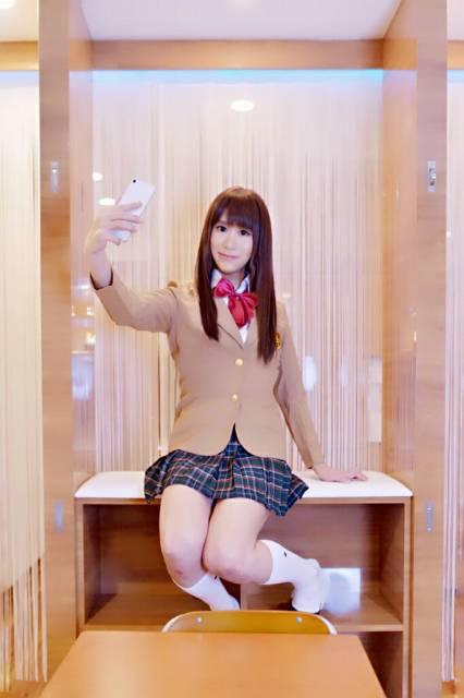 教室にて~(*´∀`)