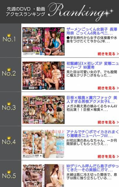 DVD・動画アクセスランキング 5週連続 1位( ^-^)ノ∠※。.:*:・'°☆
