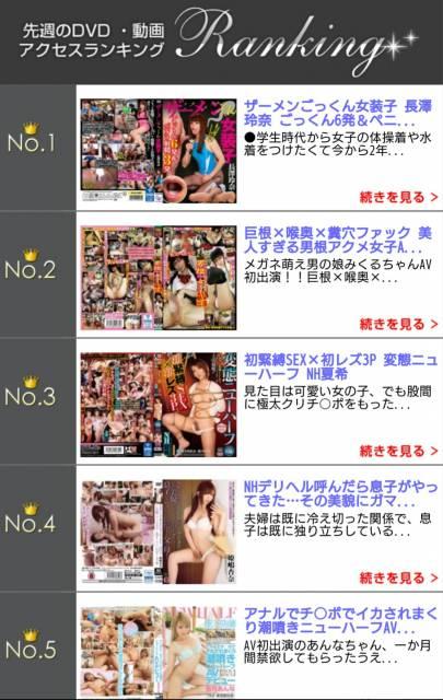 DVD・動画アクセスランキング 6週連続1位 ( v^-゜)♪