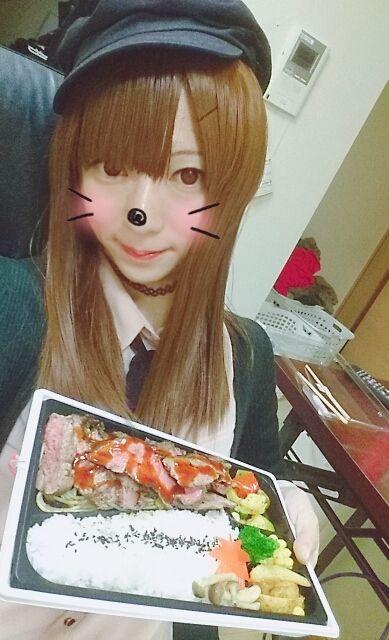 ステーキ弁当おいちい(´・ω・`)/~~