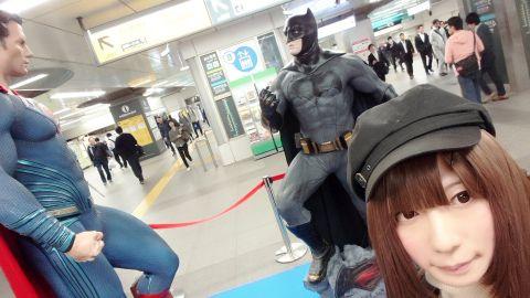 駅におっきなフィギュアあったよ(/^^)/♪