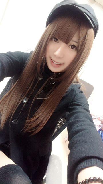 新しい黒のコート暖かいの(∩゚∀`∩)♪