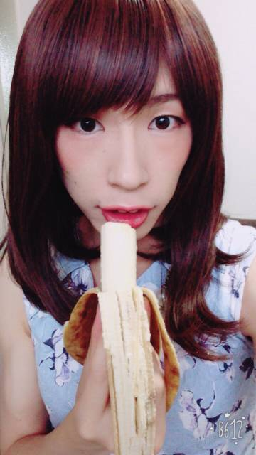 バナナ食べて準備完了!